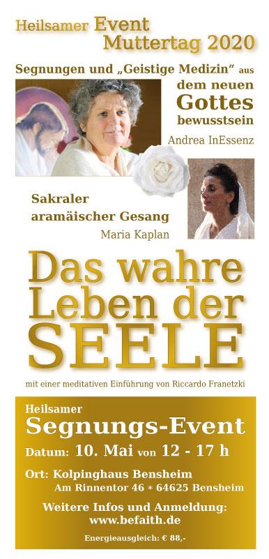 Segnungs-Event an Muttertag in Bensheim